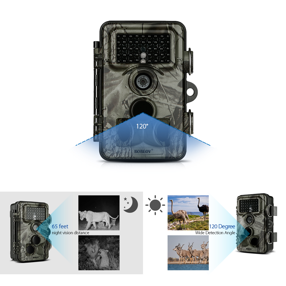 CT009 Hunting Camera 16MP 1080P Wildlife Trail Camera Night Vision IP66 Waterproof Hunting Game Camera with 0.35s Trigger Speed