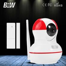 Con Sensor de Puerta Cámara IP P2P HD 720 P P/T IR de la Grabación de Audio Inalámbrico Wifi 3.6mm Endoscopio CCTV de Vigilancia de Seguridad de Alarma