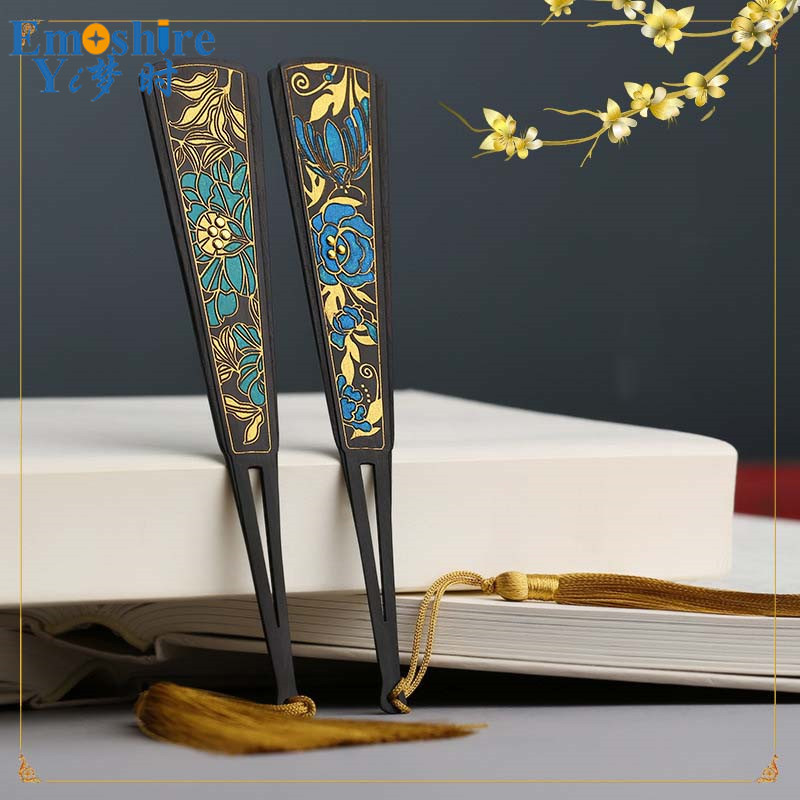Classical Creative Wood Retro Bookmarks Gifts Student Items Office Material Tassel Stationery Book Mark School Supplies M087 wooden ancient bookmarks chinese complex classical teachers festival gifts bookmarks creative bookmarks sets m097