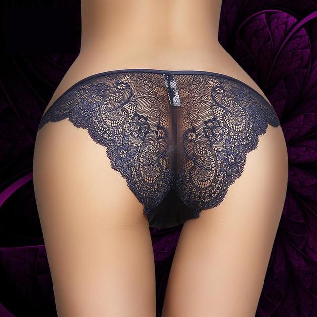 43b01f815 Cuecas do laço da forma fina modelos femininos respirável tamanho grande  cuecas das mulheres Calcinha sexy
