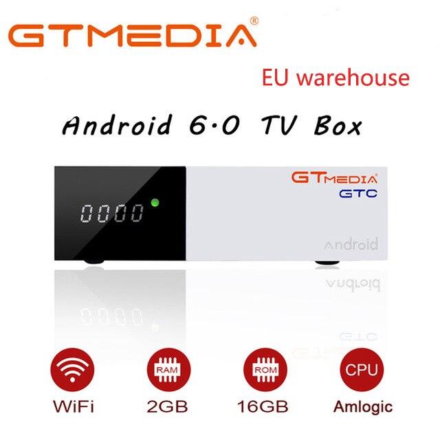 GTMEDIA GTC DVB-T2/S2/câble ISDBT Smart TV Box Android 6.0 2GB 16GB S905D 4K Wifi Netflix décodeur lecteur multimédia Android Box