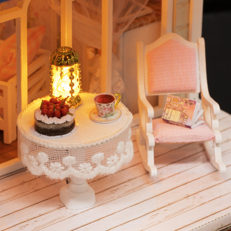 DIY Dollhouse Miniature Doll House Furniture 3D Wooden Handmade Puzzle Toys Gift For Children Bicycle Angel A060 E in Doll Houses from Toys Hobbies