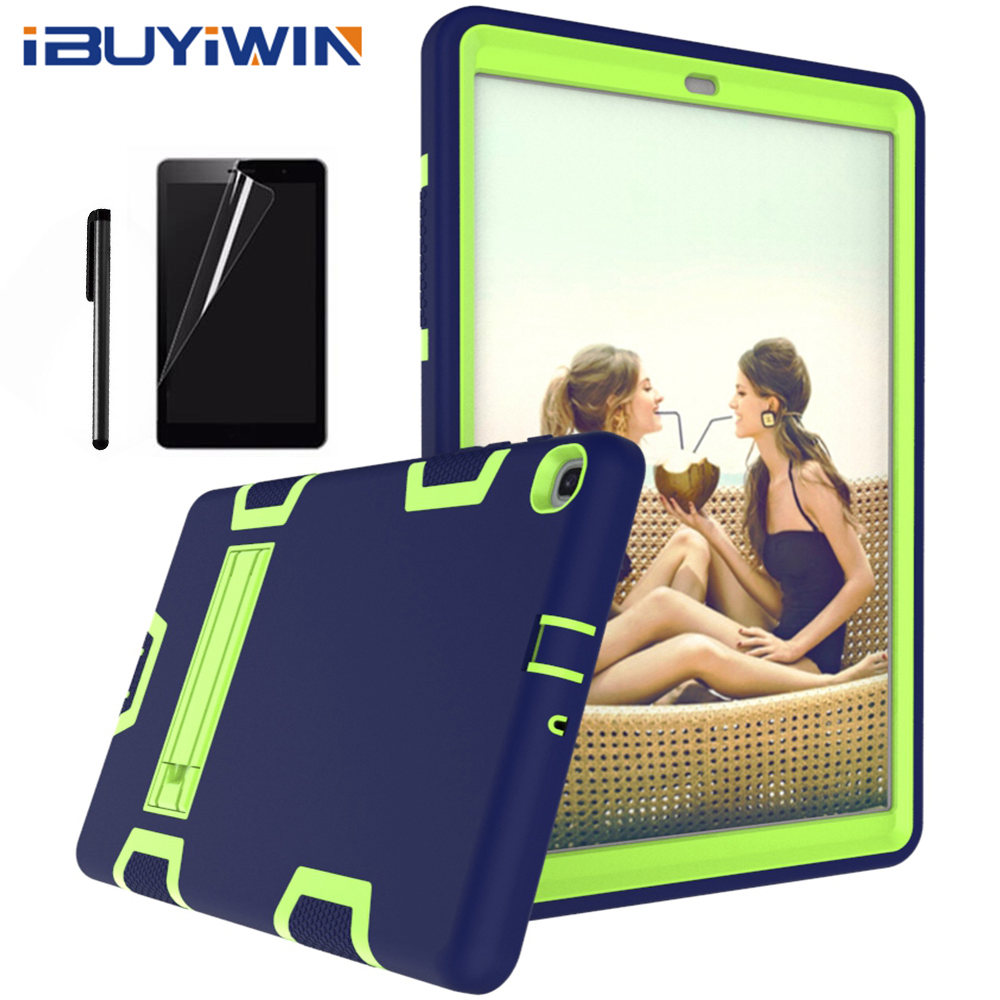 Silicone Case for <font><b>Samsung</b></font> Galaxy Tab A <font><b>10.1</b></font> SM-T510 SM-T515 2019 New <font><b>Tablet</b></font> Funda Shockproof <font><b>Cover</b></font> for Kids+Screen Film+Pen image