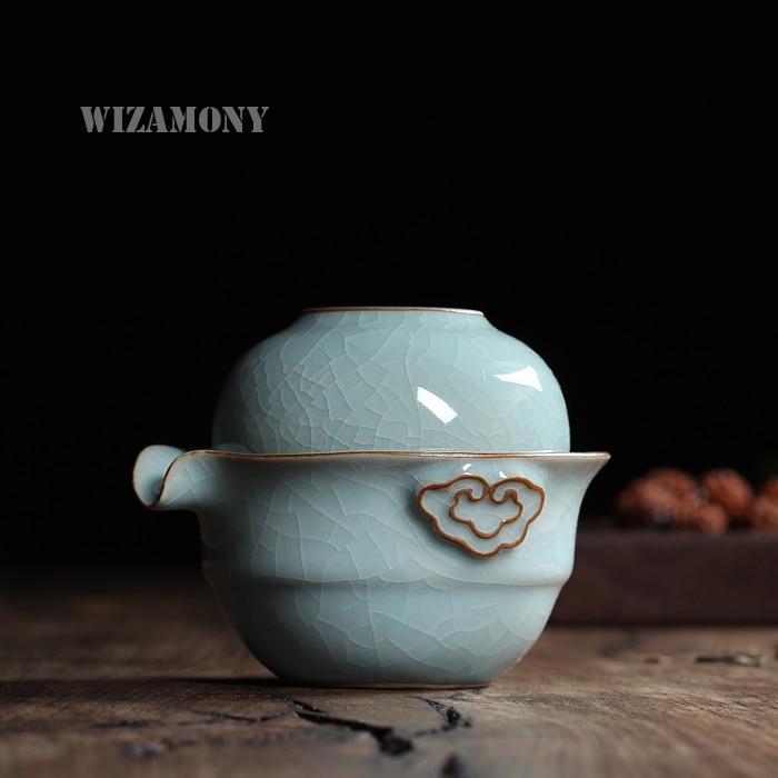 Кунг-фу чай комплект с 1 пот 1 чаша - Кухня, трапезария и бар - Снимка 2
