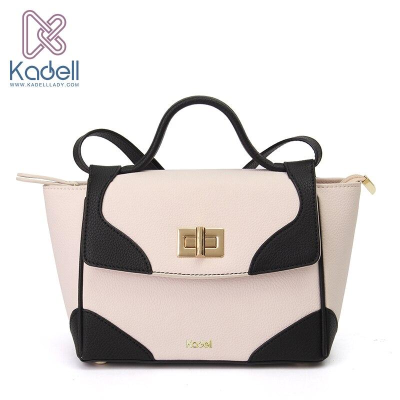 Kadell Women Messenger Bags Handbags Women Famous Brands Luxury Crossbody Bag for Women Contrast Color Lock Trapeze Bag Shoulder цена 2017