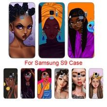 лучшая цена MaiYaCa Coque For Samsung S6 Egde plus Afro Girls Black soft shell phone case For Samsung S5 S6 S6 Egde S7 S8 S8plus S9 S9plus
