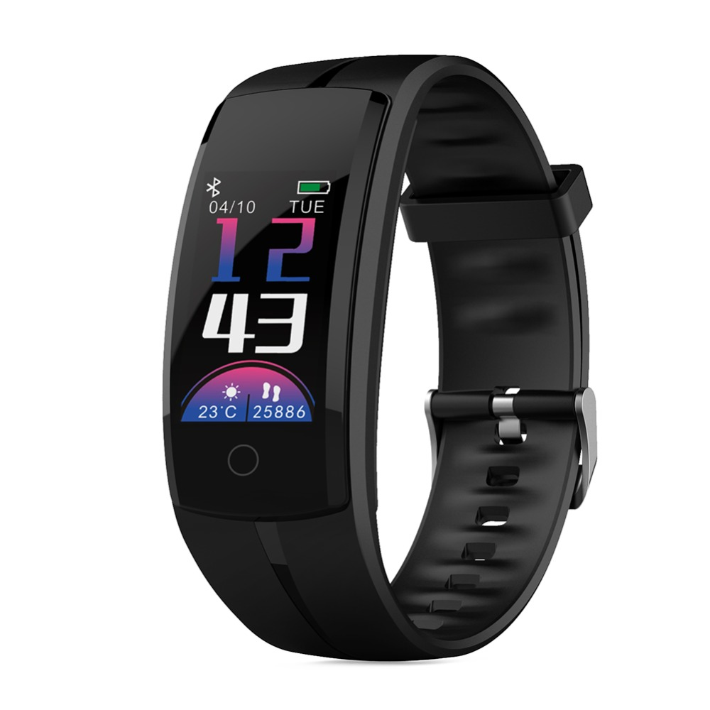 Smart Bracelet QS100 Watch Fitness Tracker Color Screen Smart Wristband Watch Heart Rate Monitor Blood Pressure Mi band 3