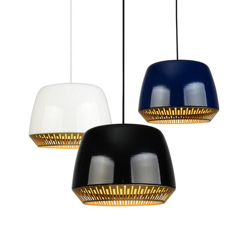 2017 Creative Italian Design Black/white/dark blue Aluminium pendant lights lamps dining room kitchen restaurant light cafe bar napapijri guji check dark blue