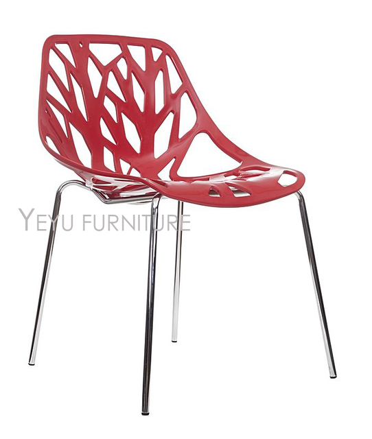 Minimalist Modern Design Plastic And Metal Steel Dining Chair Simple Design  Chair Leisure Furniture Modern Home
