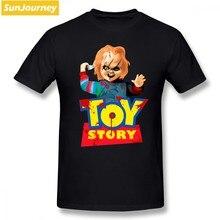 00bc1f909 Chucky Toy Story hombres camiseta Hipster Cosplay tamaño grande algodón de  manga corta Camisetas para hombres