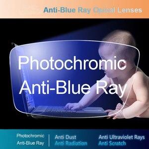 Image 1 - Anti Blue Ray Photochromic Gray Lens Optical Lenses Prescription Vision Correction Computer Reading Lens myopic hyperopia
