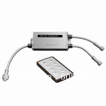 216/432 W IP65 LED rgb imperméable contrôleur DC12/24 W 18A sortie équipée de 8 touches rf panneau de commande à distance anode commune CE & ROHS
