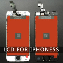 For  Iphone 5S LCD Display Touch Screen Digitizer Assembly Replacement Glass White Free Screen Protector Tools