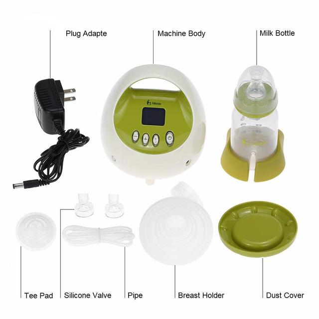 Madre de la leche materna de alimentación portátil de la bomba eléctrica libre de BPA solo mama bomba de leche pantalla LCD leche Extractor nos enchufe