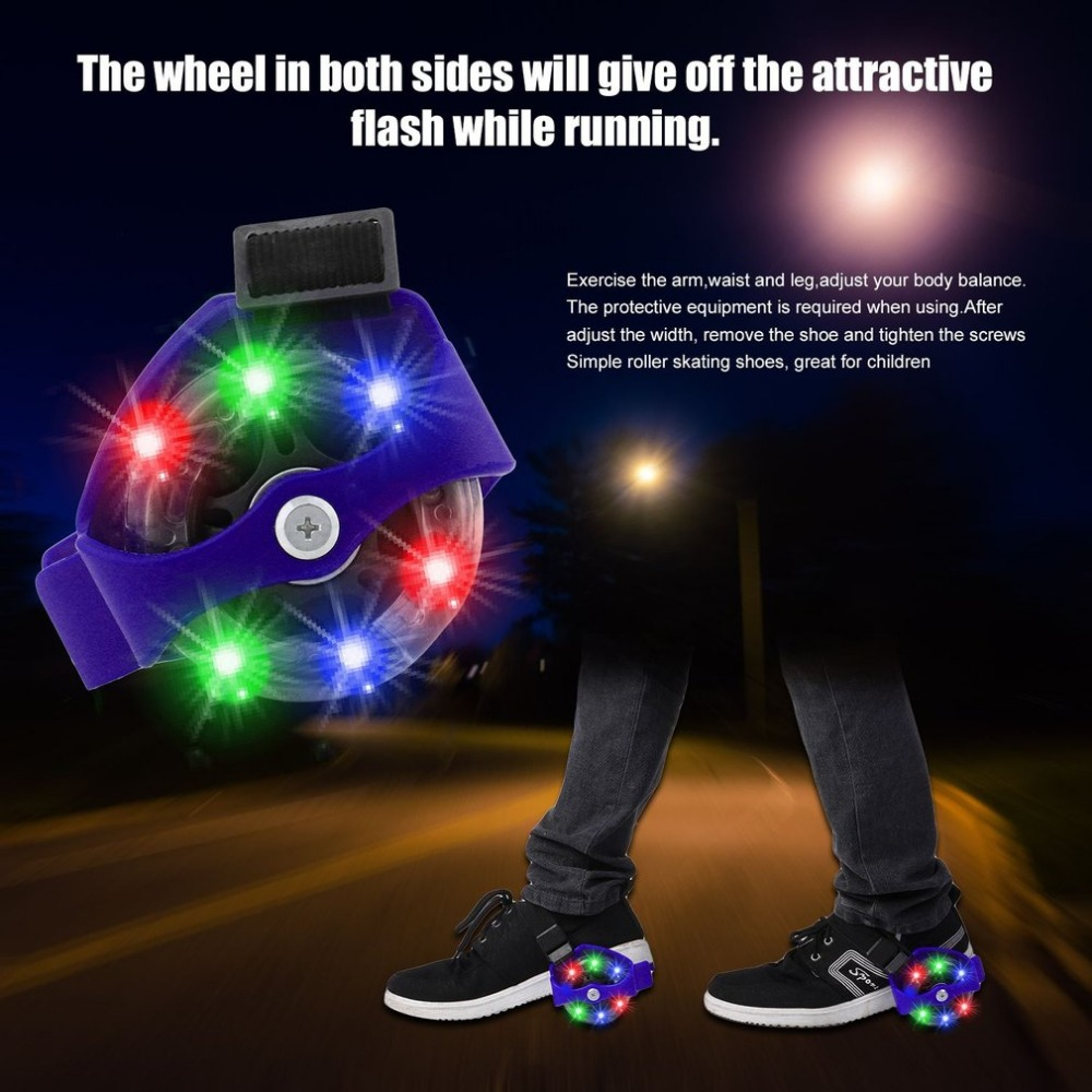 Colorful Flashing Roller Small Whirlwind Pulley Flash Wheels Heel Roller Adjustable Simply Roller Skating Shoes