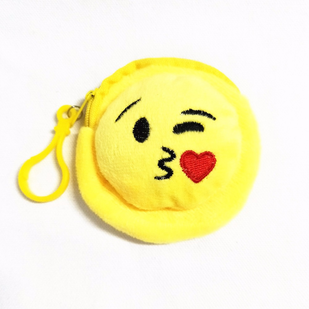 M232 Lovely Mini QQ Expression Change Purse Cartoon Small Wallet Coin Purse And Pure And Fresh Cloth Art Children Coin Bag