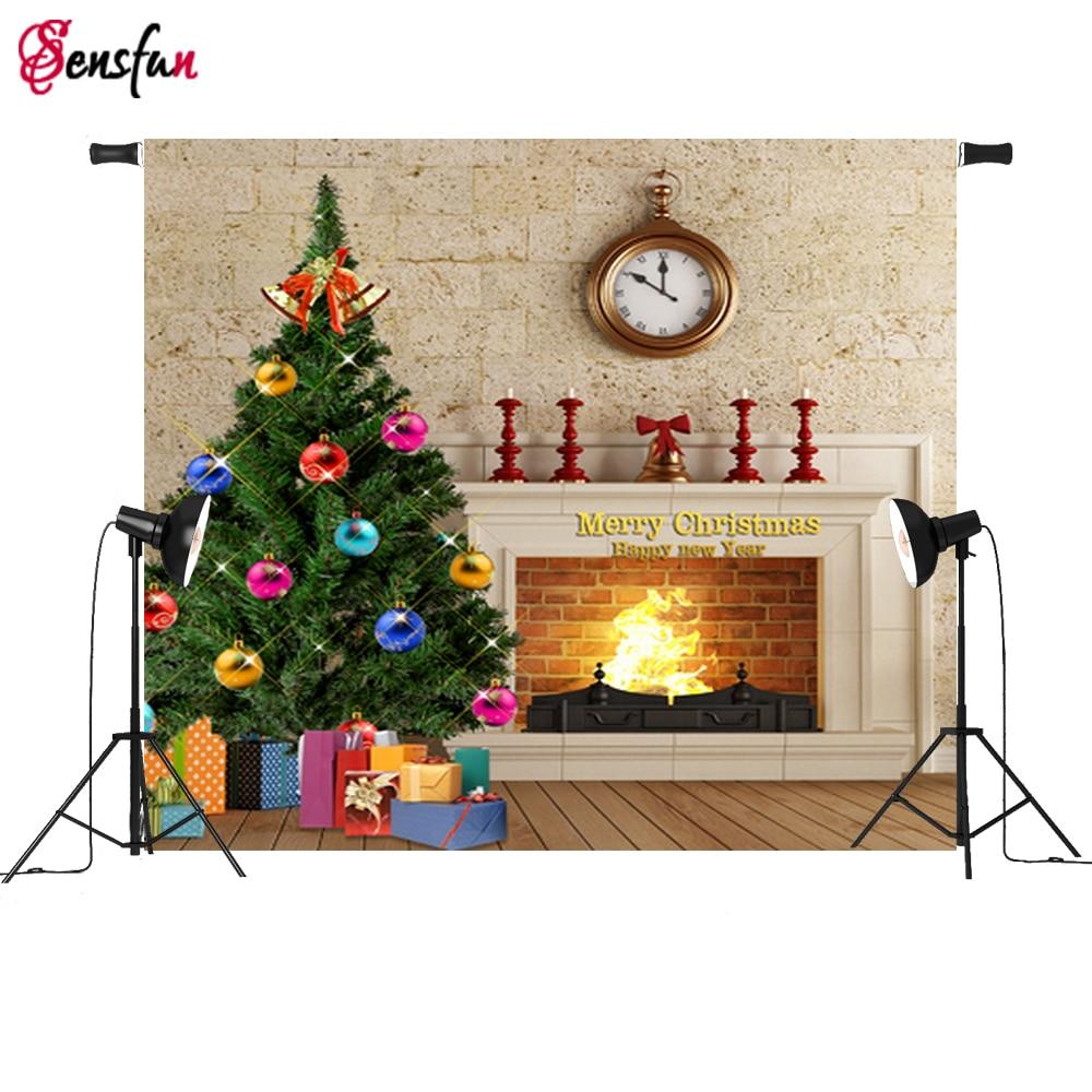 8x10ft Fire Place Pattern Photo Backdrop fond de studio de photographie photography christmas backgrounds Vinyl