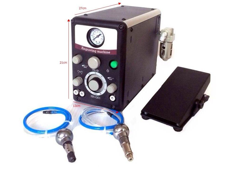 Di alta Qualità Più Grave G8 Gioielli Pneumatica Impact Macchina Per Incidere Incisore Sistema con 2 Manipoli orafo attrezzature