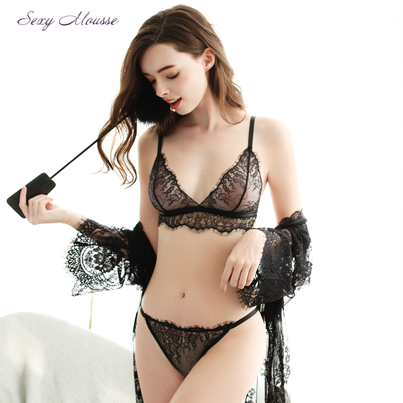 2017 New Plus Size Eyelash Lace Floral Sexy Lingerie -2566