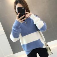 2018 new style early autumn gentle wind sweater, Korean version of mink velvet net, red lazy wind sweater female sleeve.