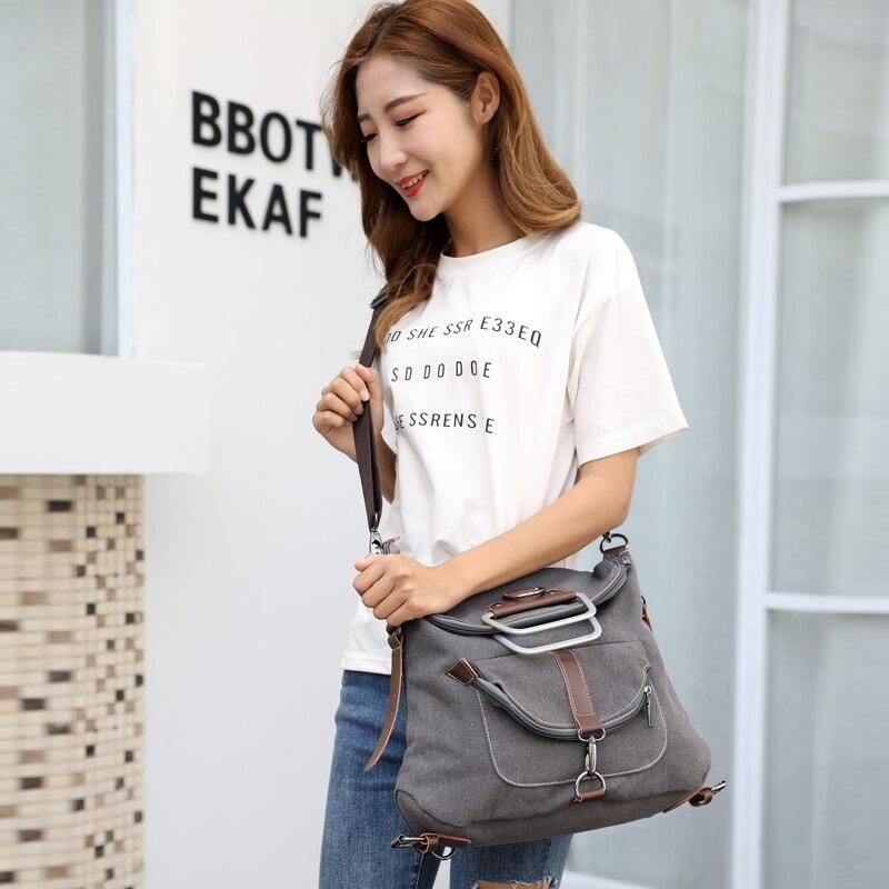 Handbags Female Casual Canvas Bags Tote Shoulder Messenger Bag Ladies Bolsos
