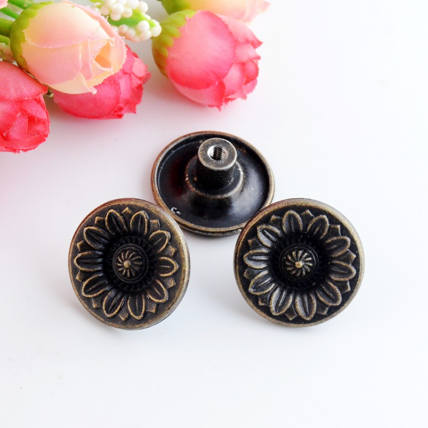 Free Shipping 8PCs Jewelry Wooden Box Pull Handle Dresser Drawer For Cabinet Door Round Antique Bronze 26x12mm J3153