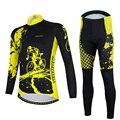 Aogda черный комплект для велоспорта с длинным рукавом  весенний комплект одежды для велосипеда  мужской костюм для велоспорта  быстросохнуща...