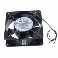 1 Piece Gdstime AC 220V 240V 2Wire 12038S 120x38mm 12cm 120mm Cooling Case Fan