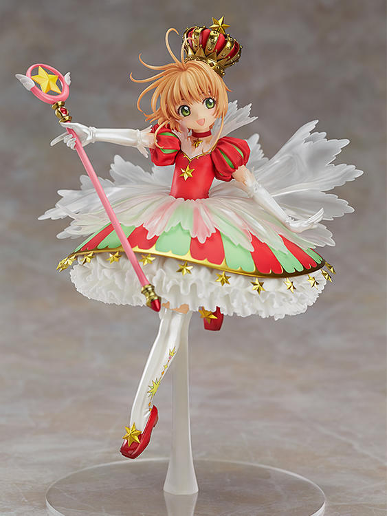 27cm Anime Cardcaptor Sakura Action Figure PVC Collection Model toys for christmas gift free shipping with retail box cardcaptor sakura kinomoto sakura clear card version 19cm anime model figure collection decoration toy gift