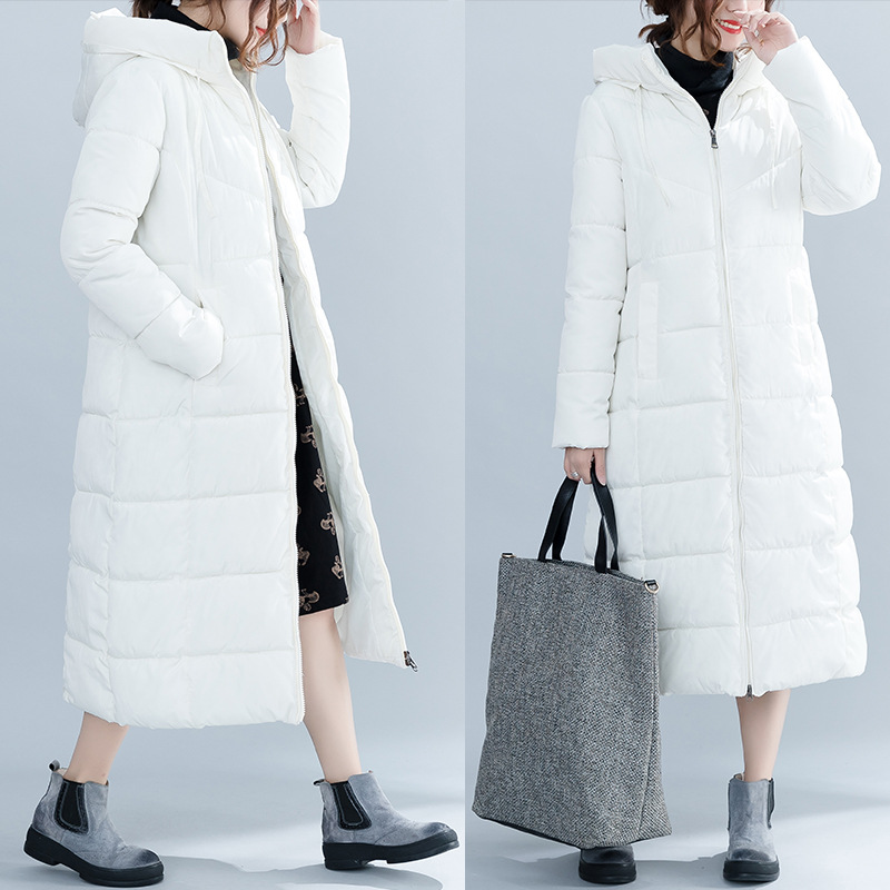 Fashion Winter Overcoat Long Thick Women Large Size   Parka   Femme Girl Warm Cotton Oversized Snow Coat 3xl 4xl Outerwear White Hot