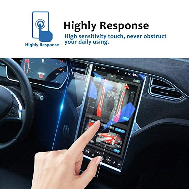 Nawigacja samochodowa ekran dotykowy szkło hartowane 17 Cal centrum sterowania ekran dotykowy folia ochronna dla Tesla Model X Model S