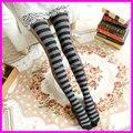 2016 Fashion Women's Winter Autumn Patchwork Tights 120 Denier Velvet Striped Pantyhose Stockings Wholesale