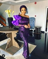 2018 Nigerian net material purple French lace fabric, bride wedding African sequins lace fabric high quality