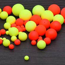 100PCS Foam Floats Ball Beads Beans Pompano Float Bottom Rig Rigging Material for Saltwater Freshwater Fishing