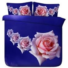 6 Parts Per Set Bed Sheet Set Beautiful Rose Blooms 3d Bedding Set