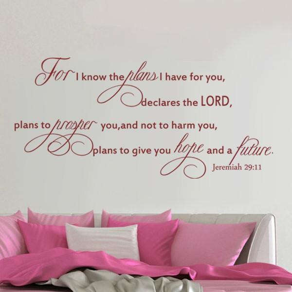 Verse Jeremiah 29 Scripture Vinyl Lettering Wall Decal Quote 68 58cm X 147 32cm In Stickers From Home Garden On Aliexpress Alibaba Group