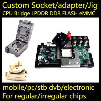 BGA873 Custom socket adapter test jig BGA LGA873 LBGA873 CSP873 QFN873 SOCKET CPU LPDDR North Bridge South