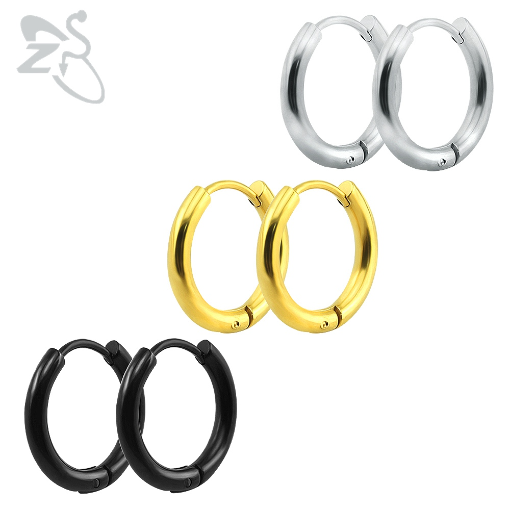 Small hoop earrings silver gold stainless steel hoop earring for women men ear piercing rings clip colored creoles huggie circle
