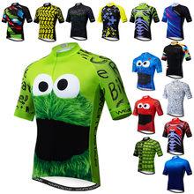 Camiseta Weimostar para ciclismo para hombre, maillot divertido para bicicleta, top transpirable de color verde