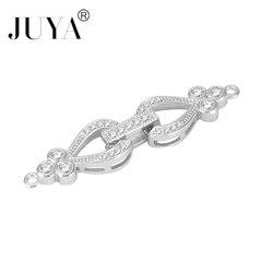 Haute qualité cuivre Zircon plier fermoirs Pour Bracelets collier amulettes flottantes 12*30mm Breloque Pour Fabrication Bijoux