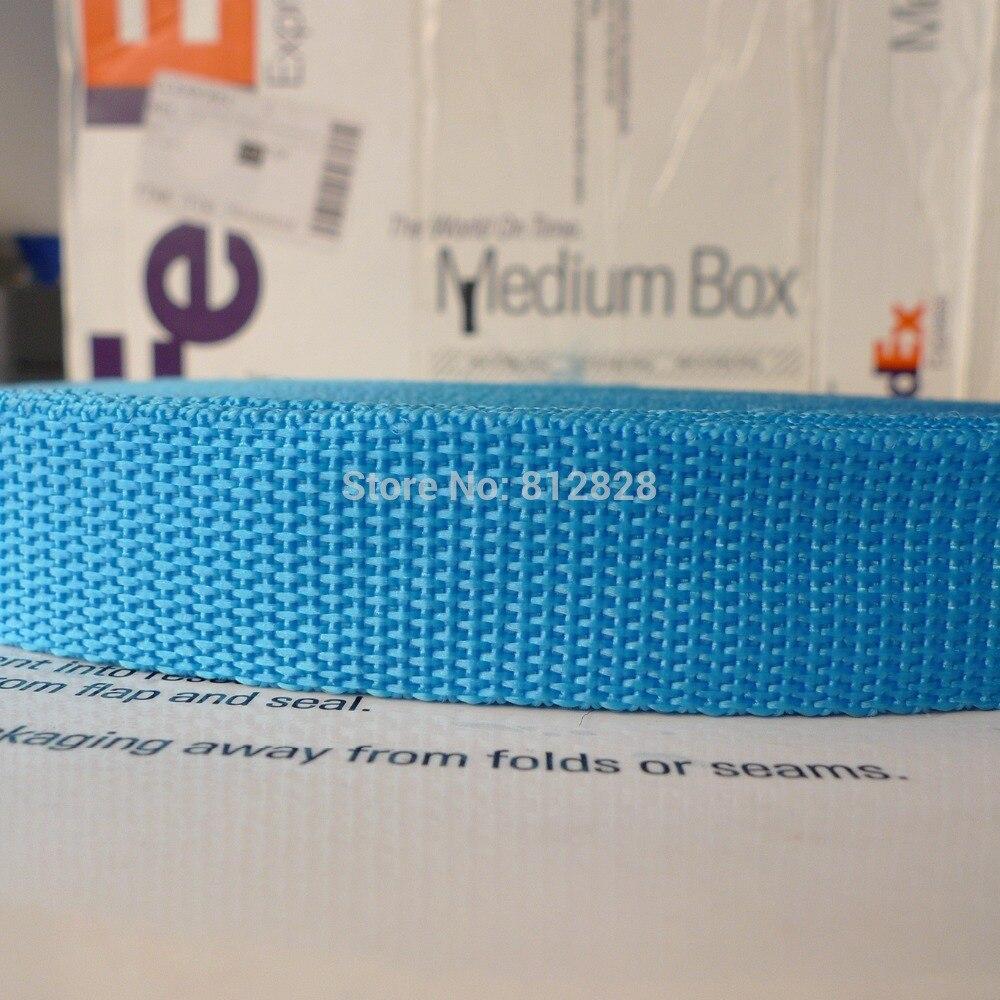 1 25mm 18 Aqua Blue Color Nylon Polypropylene Bag Straps Webbing 100 Yards