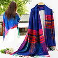 Europe and the United States Real New The Autumn/Winter Tassel Bee National Wind Cashmere Scarf Women Madrid