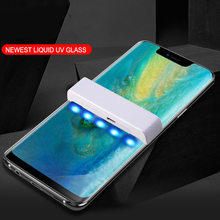 For Huawei P30 P20 Pro Nano Liquid UV Full Glue Tempered Glass Mate 20 Pro Screen Protector For Huawei Mate 20 Pro RS LG V30 V40(China)