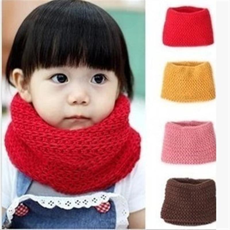 2018 Hot Selling Winter Neckerchief Women Children's Cotton Muffler Baby bib Warm Soft Boys Scarves Girls Knitted Scarf