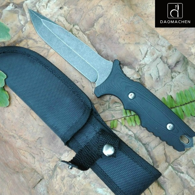 high carbon steel forging fixed blade knife hunting knife stone