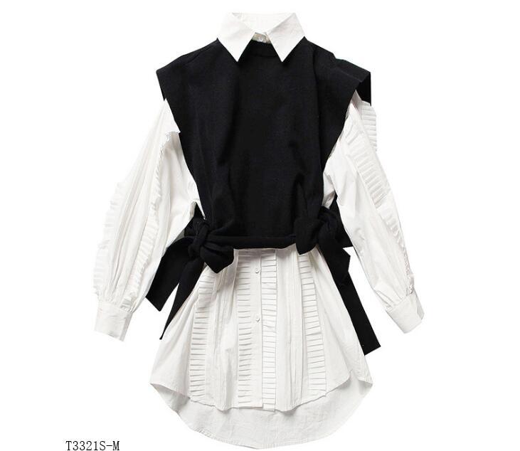Photo Style Nouveautés Color 2019 Mode Tricoter T3321 À Solide Vêtements Femmes Printemps Chemisier Casual Chemise Européen Couleur Costume D'été UTUwxAr