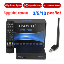 [Genuine] 10pcs  V9S PRO & USB Wifi DVB-S2 Satellite TV Receiver Support PowerVu Biss Key clines Newcamd Youtube Youporn PK V8