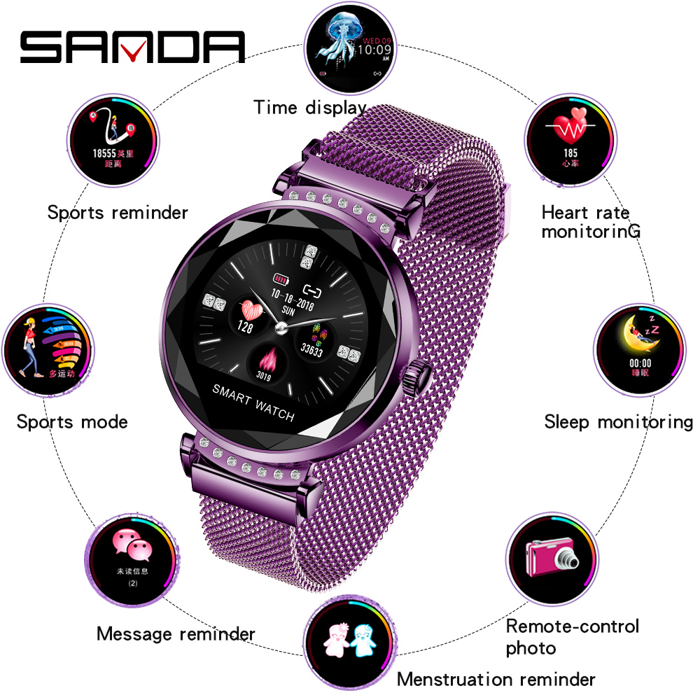 <font><b>2019</b></font> Sanda <font><b>new</b></font> women's fashion wild <font><b>smart</b></font> bracelet <font><b>watch</b></font> magnetic <font><b>watch</b></font> digital <font><b>watch</b></font> multi-function sports <font><b>watch</b></font> image