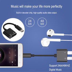Image 5 - 1PC Universal USB C Fast Audio Convertor Headphone Jack Type C To 3.5 Mm Adapter 2 In 1 Charging Cable Headset Splitter