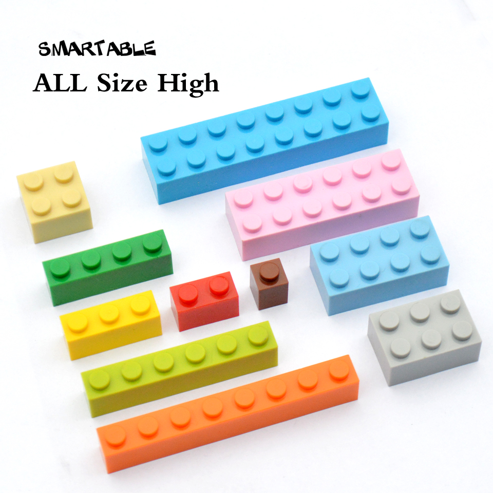 Smartable High Bricks Particles Classic Small Building Blocks parts DIY LOGO Toys Compatible Legoing Toys 100g/lot Mixed colors 32 32 dots plastic bricks the island straight crossroad curve green meadow road plate building blocks parts bricks toys diy